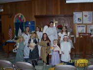 Sunday School Christmas program rehearsal